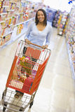 grocery shopping woman young Στοκ Εικόνες