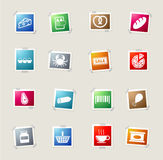 Grocery simply icons Royalty Free Stock Image