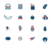 Grocery simply icons Stock Photos