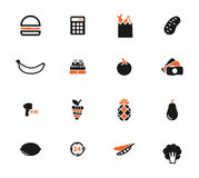 Grocery simply icons Stock Image