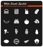 Grocery simply icons. Grocery simply symbol for web icons and user interface Stock Photo