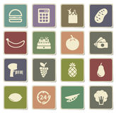 Grocery simply icons Stock Images