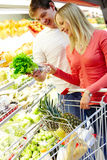 At grocery store Stock Images