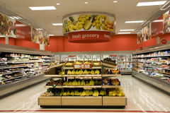 Grocery store. Very neat and organized grocery store Royalty Free Stock Image