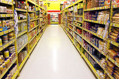Grocery Store Aisle Stock Photo