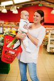 Grocery Store Baby Royalty Free Stock Photos