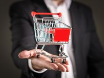 Grocery store chain management and retailing. royalty free stock photo