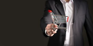 Grocery store chain management and retailing. stock photo