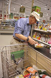 Grocery store check out line Stock Image