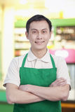 Grocery Store Clerk Royalty Free Stock Photo
