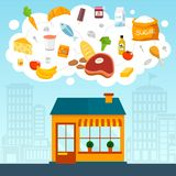 Grocery store concept Stock Photography