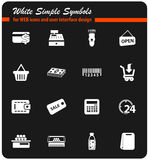Grocery store icon set Royalty Free Stock Photography