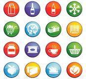 Grocery store icon set Stock Photo