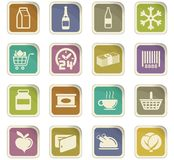 Grocery store icon set Royalty Free Stock Photos