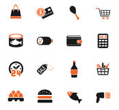 Grocery store icon set. Grocery store web icons for user interface design Royalty Free Stock Images