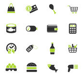 Grocery store icon set. Grocery store web icons for user interface design Stock Photography