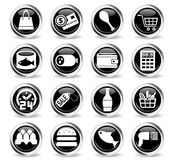 Grocery store icon set. Grocery store web icons for user interface design Royalty Free Stock Image