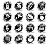 grocery store icon set Stock Photo