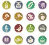 grocery store icon set Stock Photos