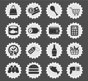Grocery store icon set Stock Image
