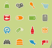 Grocery store icon set. Grocery store web icons for user interface design Stock Image