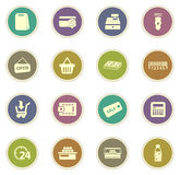 Grocery store icon Stock Photos
