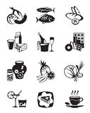 Grocery store icons set Royalty Free Stock Images