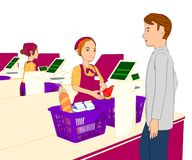 Grocery store illustration Royalty Free Stock Image