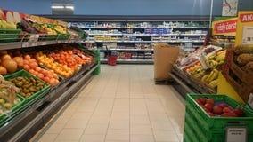 Grocery store interior Stock Photos