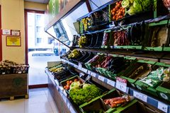 Grocery Store Interior - Turkey Royalty Free Stock Photography