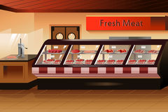 Grocery store: meat section Stock Image