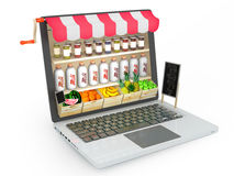 Grocery store online Royalty Free Stock Images