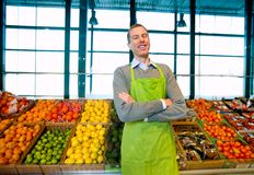 Grocery Store Owner Royalty Free Stock Photo