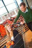 Grocery Store Playful Couple Royalty Free Stock Image