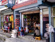 Grocery store in Pokhara, Nepal stock photos
