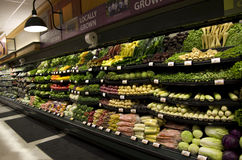 Grocery store. A grocery store selling a lot of vegetables Stock Image