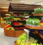 Grocery store. A grocery store selling a lot of vegetables Stock Photography