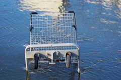 Grocery store shopping cart Stock Photography