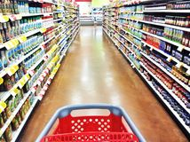 Grocery store shopping trip Stock Image