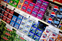 Grocery Store: Soda Asile Royalty Free Stock Photos