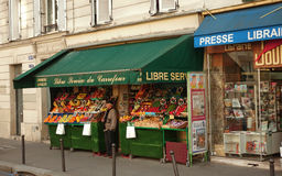 Grocery store on street, Paris, France Royalty Free Stock Photography