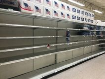 Hurricane Irma. Grocery store in Summerville South Carolina, runs out of water as Hurricane Irma approaches Stock Photos