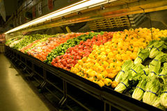 Grocery store supermarket. Fresh vegetables for sale at a supermarket Royalty Free Stock Images