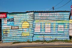 Grocery store in the township of Khayelitsha Royalty Free Stock Photography