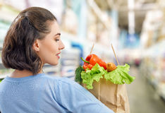 At the grocery store Royalty Free Stock Images
