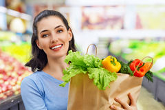 At the grocery store Royalty Free Stock Photo