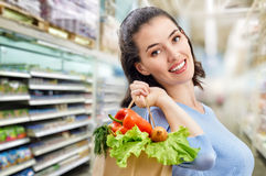 At the grocery store Stock Photos