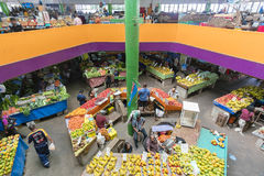 Grocery stores in Fiji. Suva, Fiji - Mar 24, 2017: View of people selling local produce at the grocery stores in Suva Market in Fiji Stock Images