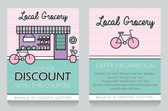 Grocery themed gift voucher template Stock Photos