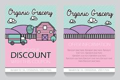 Grocery themed gift voucher template Stock Image